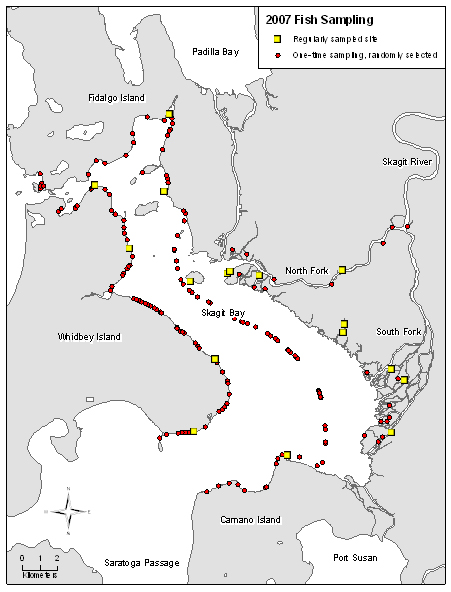 SRSC Research crew fish-sampling sites for 2007.