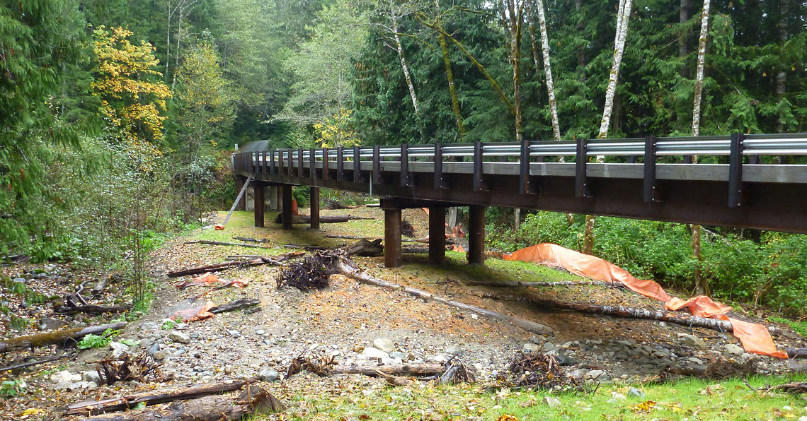 New bridge at Downey Creek, installed summer 2014.