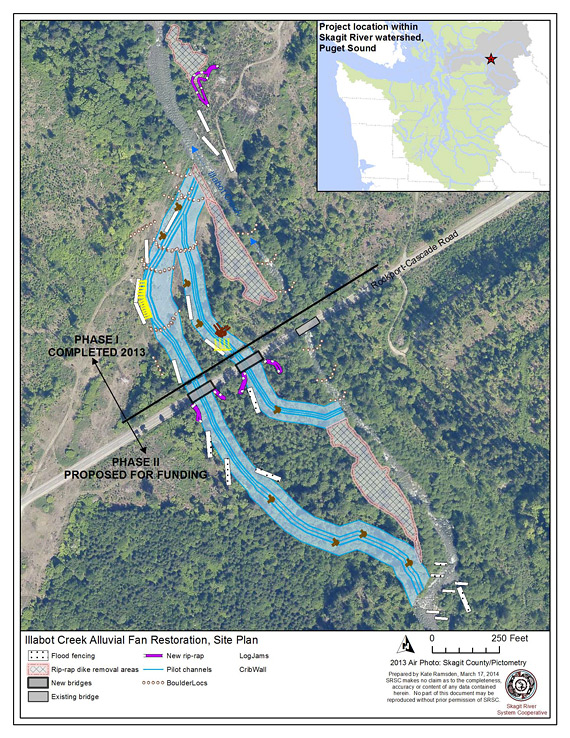 Restoration plan for Illabot Creek Phases 1 and 2.